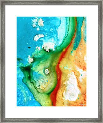 Colorful Abstract Art - Captured - By Sharon Cummings Framed Print by Sharon Cummings