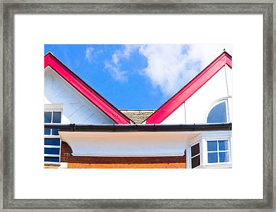 Colorful Architecture Framed Print by Tom Gowanlock