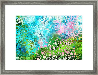 Colorful Art - Enchanting Spring - Sharon Cummings Framed Print by Sharon Cummings