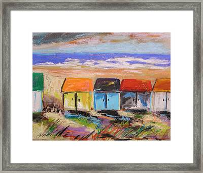 Colorful Beach Houses Framed Print by John Williams