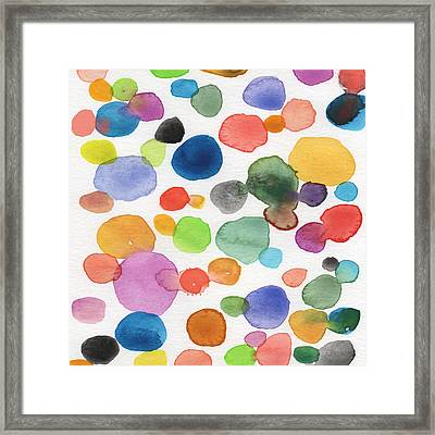 Colorful Bubbles Framed Print by Linda Woods
