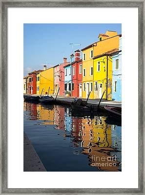 Colorful Burano Framed Print by Prints of Italy