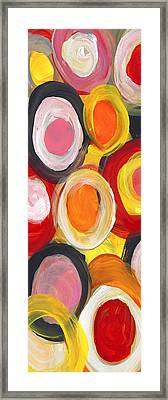 Colorful Circles In Motion Panoramic Vertical Framed Print by Amy Vangsgard