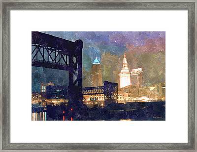 Colorful Cleveland Framed Print by Kenneth Krolikowski