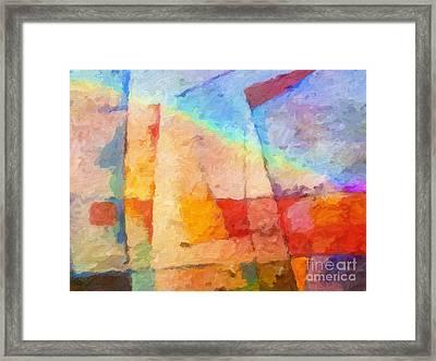 Colorful Coast Framed Print by Lutz Baar
