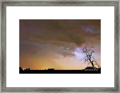 Colorful Colorado Cloud To Cloud Lightning Striking Framed Print by James BO  Insogna