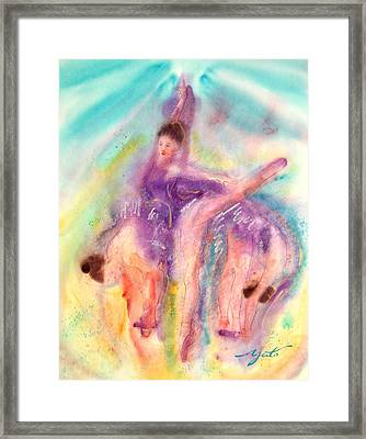 Colorful Dance Framed Print by John YATO