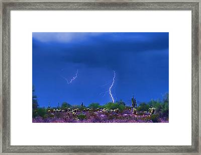 Colorful Desert Storm Framed Print by James BO  Insogna