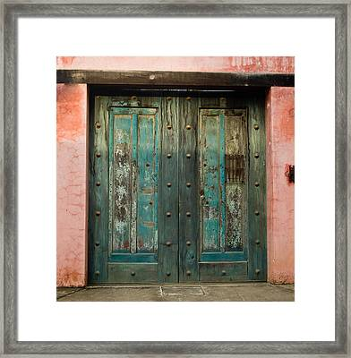 Colorful Doors Antigua Guatemala Framed Print by Douglas Barnett