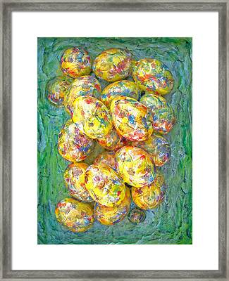 Colorful Eggs Framed Print by Carl Deaville