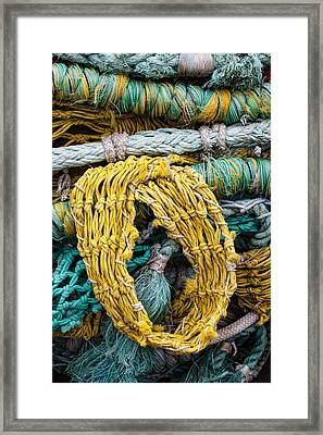 Colorful Fishing Nets Framed Print by Carol Leigh