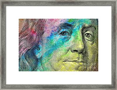 Colorful Franklin Framed Print by Jon Neidert