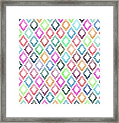 Colorful Geometric Patterns  Framed Print by Amir Faysal