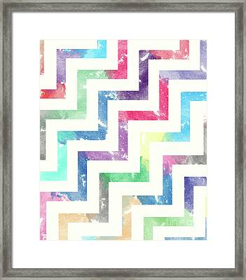 Colorful Geometric Patterns Vi Framed Print by Amir Faysal