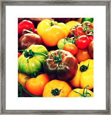 Colorful Harvest Framed Print by Cathie Tyler