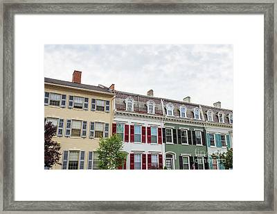 Colorful Historic Row Houses Framed Print by Edward Fielding