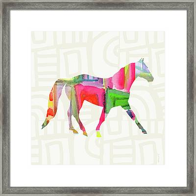 Colorful Horse 1- Art By Linda Woods Framed Print by Linda Woods