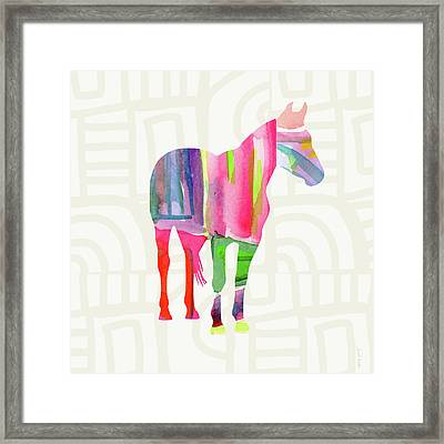 Colorful Horse 2- Art By Linda Woods Framed Print by Linda Woods