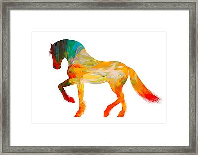 Colorful Horse Framed Print by Art Spectrum