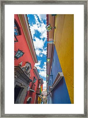 Colorful Jaen Street In La Paz Framed Print by Jess Kraft