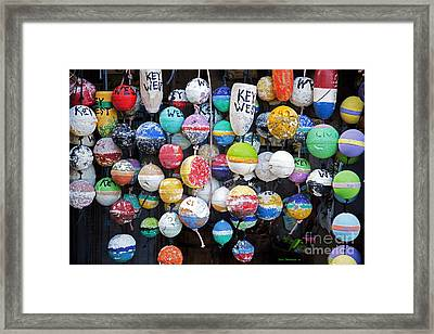 Colorful Key West Lobster Buoys Framed Print by John Stephens