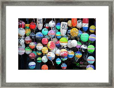 Colorful Key West Lobster Floats Framed Print by John Stephens