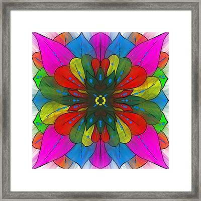 Colorful Leaves Framed Print by Pratyasha Nithin