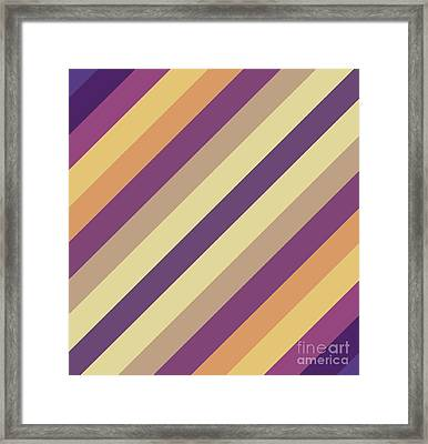 Colorful Lines Framed Print by Amir Faysal
