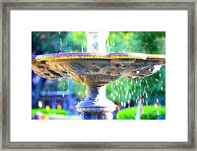 Colorful New Orleans Fountain Framed Print by Carol Groenen