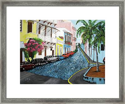 Colorful Old San Juan Framed Print by Luis F Rodriguez