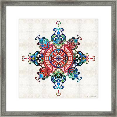 Colorful Pattern Art - Color Fusion Design 3 By Sharon Cummings Framed Print by Sharon Cummings