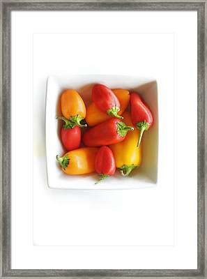 Colorful Peppers II Framed Print by Kicka Witte - Printscapes