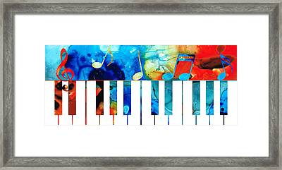 Colorful Piano Art By Sharon Cummings Framed Print by Sharon Cummings