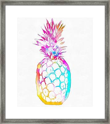 Colorful Pineapple Framed Print by Dan Sproul