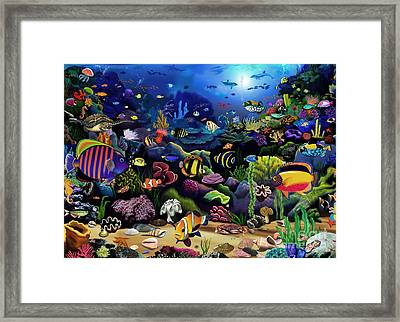Colorful Reef Framed Print by Gerald Newton