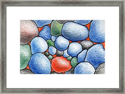 Colorful Rock Abstract Framed Print by Nancy Mueller