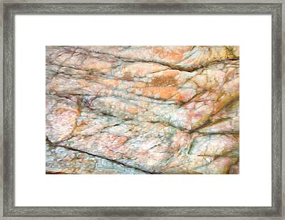 Colorful Rock Abstract Framed Print by Theresa Tahara