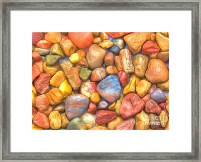 Colorful Rocks Framed Print by Veikko Suikkanen