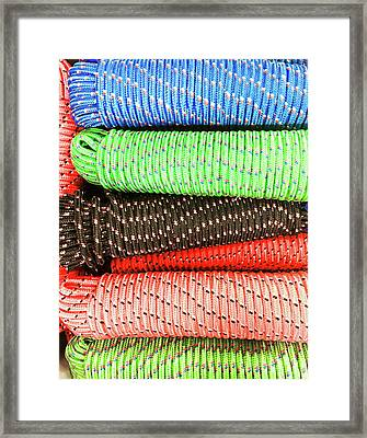 Colorful Rope Framed Print by Tom Gowanlock