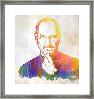 Colorful Steve Jobs Framed Print by Dan Sproul
