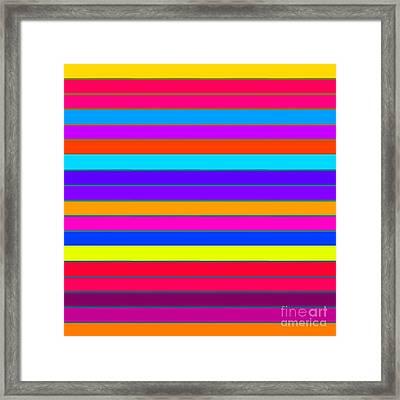 Colorful Stripes Framed Print by Johari Smith