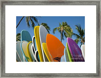 Colorful Surfboards Framed Print by Ron Dahlquist - Printscapes