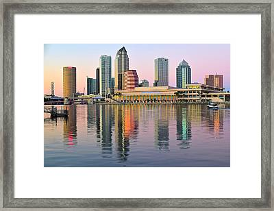 Colorful Tampa Bay Framed Print by Frozen in Time Fine Art Photography