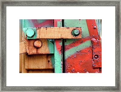 Colorful Train Details Framed Print by Carol Leigh