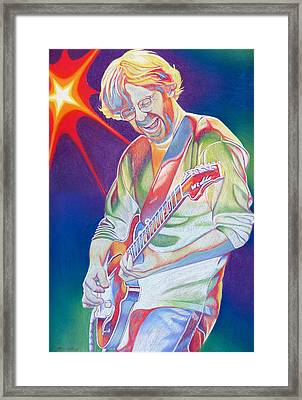 Colorful Trey Anastasio Framed Print by Joshua Morton
