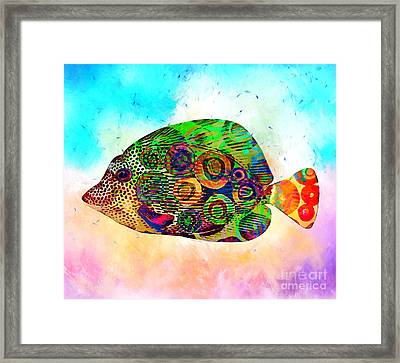 Colorful Tropical Fish Print Framed Print by Stacey Chiew