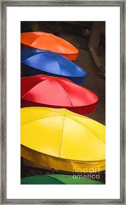 Colorful Umbrellas Framed Print by Jon Burch Photography
