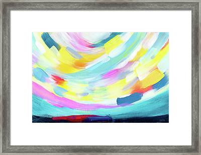 Colorful Uprising 4 - Abstract Art By Linda Woods Framed Print by Linda Woods