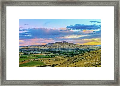 Colorful Valley Framed Print by Robert Bales