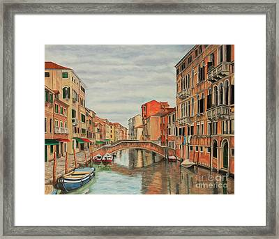 Colorful Venice Framed Print by Charlotte Blanchard